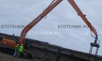 строительная техника - аренда гусеничного экскаватора. Case CX 240В Long reach